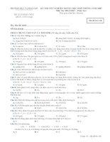 KỲ THI TỐT NGHIỆP TRUNG HỌC PHỔ THÔNG NĂM 2007 Môn thi: HOÁ HỌC - Phân ban - Mã đề thi 138