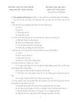 ĐỀ KIỂM TRA HỌC KỲ I MÔN NGỮ VĂN, LỚP 9 TRƯỜNG THCS HUỲNH PHƯỚC NINH PHƯỚC –NINH THUẬN