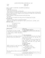Giáo án hóa 9 học kì II