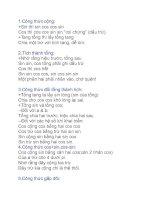 Bài thơ về các công thức lượng giác