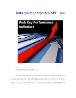 Đánh giá công việc theo KPI – test