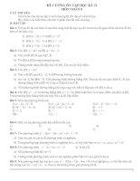 đề cương ôn tập học kỳ 2 toán 9