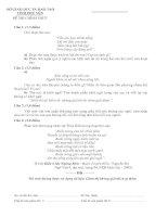 ĐỀ THI TUYỂN SINH VÀO LỚP 10 TRUNG HỌC PHỔ THÔNG  NĂM HỌC 2012-2013 MÔN NGỮ VĂN - SỞ GIÁO DỤC VÀ ĐÀO TẠO TỈNH PHÚ YÊN