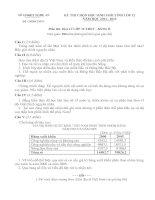 ĐỀ THI CHỌN HỌC SINH GIỎI TỈNH LỚP 12 NĂM HỌC 2011 - 2012 MÔN ĐỊA LÝ LỚP 12 THPT - SỞ GD&ĐT NGHỆ AN
