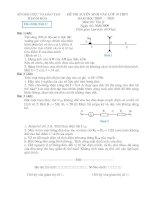 đề thi và đáp án vật lý vào 10 (09-10 Thanh Hoá)