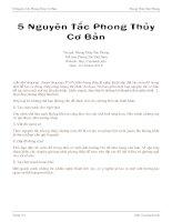 5 nguyên tắc phong thủy cơ bản