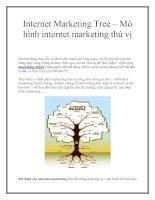 Internet marketing tree – mô hình internet marketing thú vị