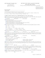 ĐỀ THI TUYỂN SINH CAO ĐẲNG NĂM 2010 Môn: HÓA HỌC; Khối B mã đề 936