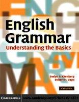 English grammar understanding the basics   ngữ pháp tiếng anh cơ bản