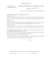 đề thi thử  ĐH-CĐ lần 1, năm học 2011-2012 Môn thi: lịch sử - khối C
