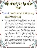 Một số luu ý khi chọn PPDH