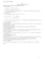 Bộ đề ôn thi  tốt nghiệp môn toán kèm đáp án