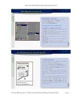 giáo trình sử dụng Word XP