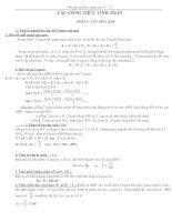 Công thức giải BT sinh học 9+12