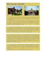 Khu du lịch Núi Sam - Châu Đốc