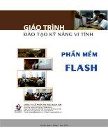 Giáo trình đào tạo kĩ năng vi tính: Phần mềm FLASH