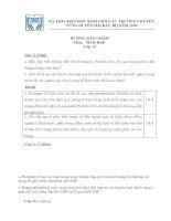 DAP AN HSG  SINH 10 CÁC TRƯỜNG CHUYÊN DUYÊN HẢI BẮC BỘ
