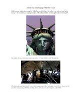 Bên trong bức tượng Nữ thần Tự do