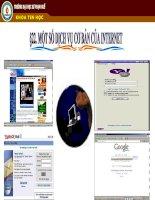 Một số dịch vụ cơ bản của internet