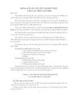 Hướng dẫn ôn thi TN-THPT-2009 tất cả các môn