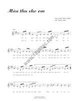 Bài hát mùa thu cho em - ngô thụy miên (lời bài hát có nốt)