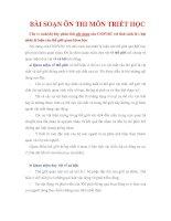 TỔNG HỢP ĐỀ THI VÀ ĐÁP ÁN MÔN TRIẾT HỌC MÁC-LÊNIN (CAO HỌC KINH TẾ)