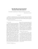 Thực trạng công tác bố trí, sắp xếp dân c- trên địa bàn tỉnh Đăk Nông đến năm 2010