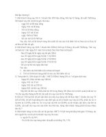 Nghiệp vụ cho vay  bài tập chương 2