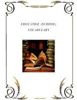 EDUCATION (SCHOOL) VOCABULARY