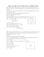15 đề toán tính chu vi và diện tích lớp 4,5.