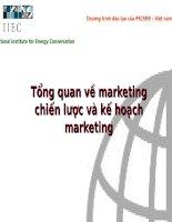 Tổng quan về marketing chiến lược và kế hoạch marketing