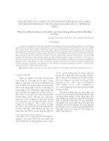 ẢNH HƯỞNG CỦA CANH TÁC NƯƠNG RẪY ĐẾN KHẢ NĂNG PHỤC HỒI DINH DƯỠNG ĐẤT TRONG GIAI ĐOẠN BỎ HÓA Ở TỈNH HÒA BÌNH