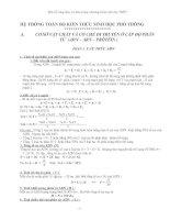 Một số công thức cơ bản trong chương trình Sinh học THPT