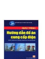 Giáo trình hướng dẫn đồ án  cung cấp điện