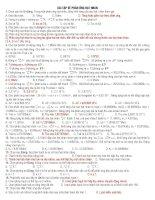 Bài tập về phản ứng hạt nhân