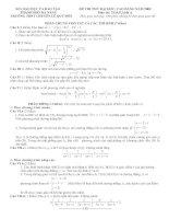 Đề thi thử đại học môn toán khối a của trường THPT chuyên lê quý đôn