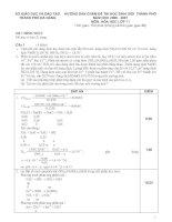 Đề thi học sinh giỏi Hóa lớp 11 và đáp án