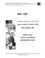 Bài tập chương trình kỹ thuật viên ngành mạng và phần cứng