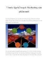 7 bước lập kế hoạch marketing sản phẩm mới