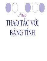 Bai 5 Thao tac voi bang tinh_Tiet 27
