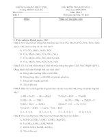 đề kiểm tra học kì toán 6 và hóa 89 HK2