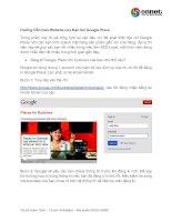 hướng dẫn đưa website của bạn lên google place