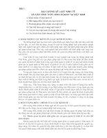 BÀI I : ĐẠI CƯƠNG VỀ LUẬT KINH TẾ VÀ CÁC HÌNH THỨC KINH DOANH TẠI VIỆT NAM