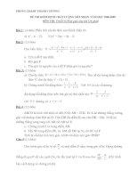 Đề thi và đáp án HSG Toán 8 08-09