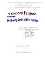 Developing service VOIP in Viet Nam