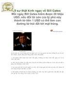 9 sự thật kinh ngạc vể Bill Gates