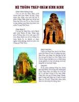 Hệ thống tháp Chàm - Bình Định