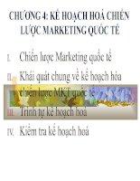 Kế hoạch hóa chiến lược marketing quốc tế