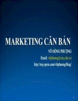 Bài giảng marketing căn bản