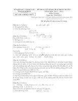 Đề thi tuyển sinh lớp 10 THPT  CHUYÊN NINH BÌNH năm học 2013-2014 môn TOÁN